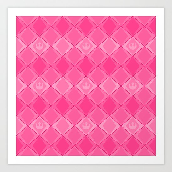 Pink Rebel Alliance Star Wars Pattern Art Print