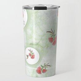 Cool greens and red-hot reds of the Baja Fairyduster Travel Mug