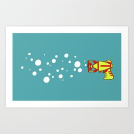 Bubblegun Art Print