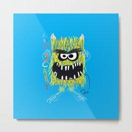 Monster, Monster with big teeth, boy art, kids art Metal Print