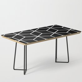 Black and White - Geometric Cube Design II Coffee Table