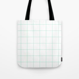 Graph Paper (Mint & White Pattern) Tote Bag