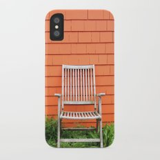 Waiting for a Seat iPhone X Slim Case