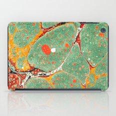 Marbled Green Orange 2A iPad Case