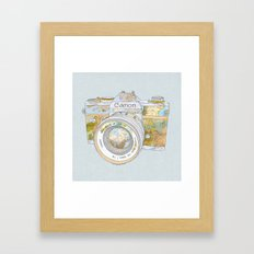 TRAVEL CAN0N Framed Art Print