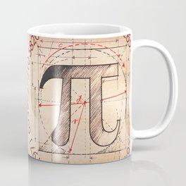 Pi Symbol Sketch Coffee Mug