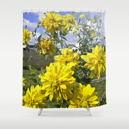 POWER FLOWER Shower Curtain