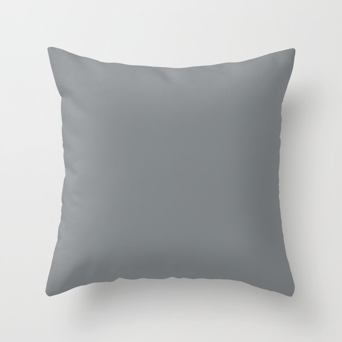 Mid Tone Gray Solid Color Pairs with Sherwin Williams Mantra 2020 Forecast colors Software SW7074 Throw Pillow