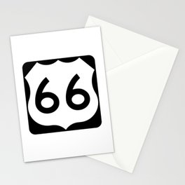 U.S. Route 66 Shield  Stationery Cards