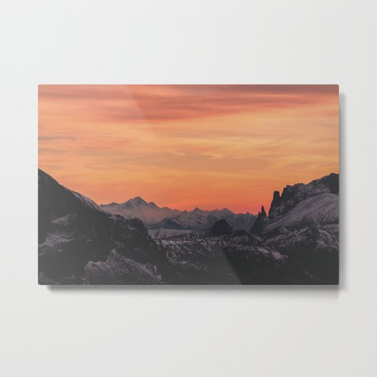 Pastel Sunset #mountains #society6 Metal Print