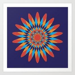 Kaleidoscope Quilt Art Print