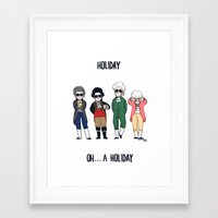 vampire weekend Framed Art Prints featuring Vampire Weekend Holiday by Knifeson