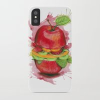 burger iPhone & iPod Cases featuring burger by Boho déco
