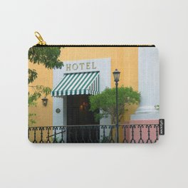 Yellow hotel Carry-All Pouch