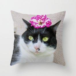 Khoshek sweet kittycat Throw Pillow