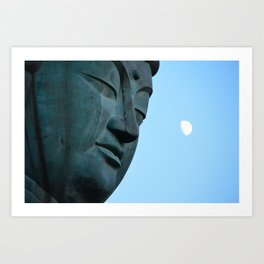 Buddha and the Moon Art Print