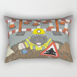 Roadwork Mole Rectangular Pillow