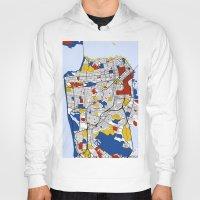 san francisco Hoodies featuring San Francisco by Mondrian Maps