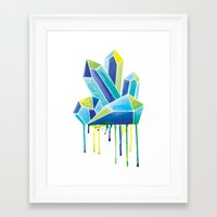 crystals Framed Art Prints featuring Crystals by Liz Urso