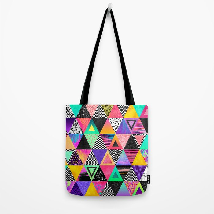 Quirky Triangles Tote Bag
