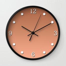 Salmon gradient, Ombre. Wall Clock