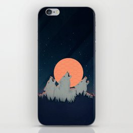 Howling Moon iPhone Skin