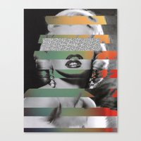 monroe Canvas Prints featuring MONROE by Jackson Todd