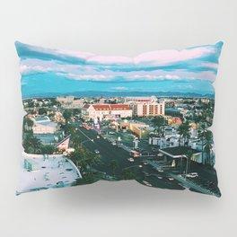 Las Vegas Photograph Filter Vintage Cool Colors  Pillow Sham