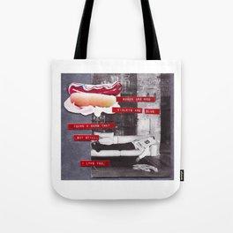 Hot Dogs & Dumb Twats Tote Bag