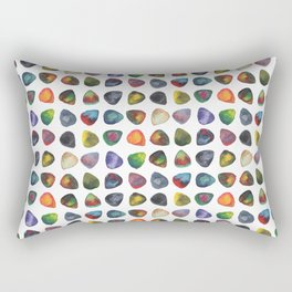 Guitar Picks Watercolor Rectangular Pillow