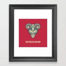 the pick of destiny Framed Art Print