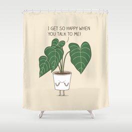 Plant talk Shower Curtain