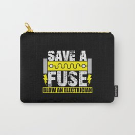 Save a fuse blow an Electrician Carry-All Pouch