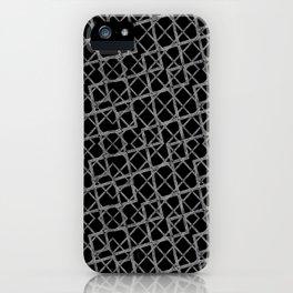 Geometric Grunge Pattern iPhone Case