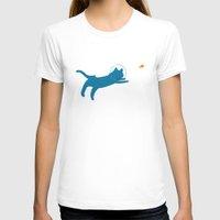 scuba T-shirts featuring Scuba Cat by Ripe
