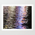 Abstract Lights on River Water in Japan 5 by jasonshulkin