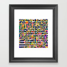 Basket Weave Framed Art Print