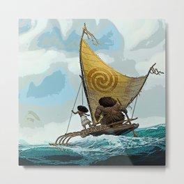 Moana Sailing Metal Print