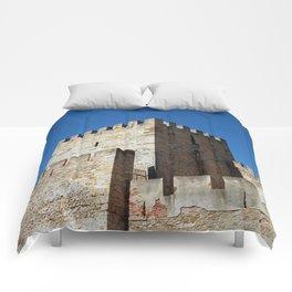 Lisbon Castle, Portugal Analog 6x6 Kodal Ektar 100 (RR 164) Comforters