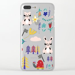 Tortoise and the Hare is one of Aesop Fables pink Clear iPhone Case