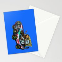 A trip by car Stationery Cards