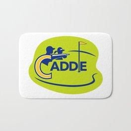 Caddie and Golfer Golf Course Icon Bath Mat