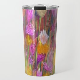 Field of Flowers in Yellow and Pink Travel Mug