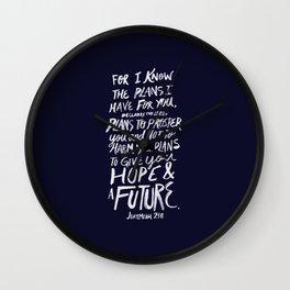 Jeremiah 29: 11 x Navy Wall Clock
