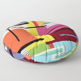 Parallels  lines and colours Floor Pillow