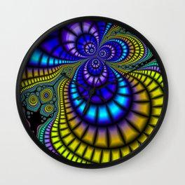 Color Phobia Fractal Wall Clock