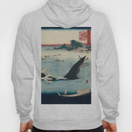 Whale hunting at the island of Goto in Hizen by Hiroshige, 1859 Hoody