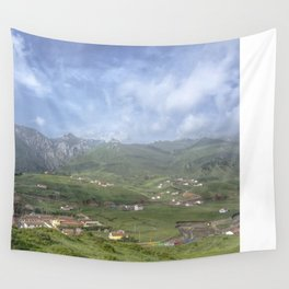 Mountain village Wall Tapestry