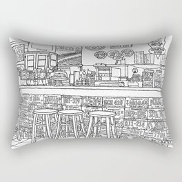 Arizona Flagstuff Diner - Line Art Rectangular Pillow