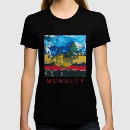 Lucas Abstract Painting Blue Black Yellow T-shirt